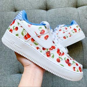 🍒 Nike women Air Force 1 cherry white shoes